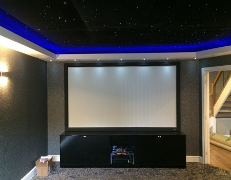 Cinema screen installed